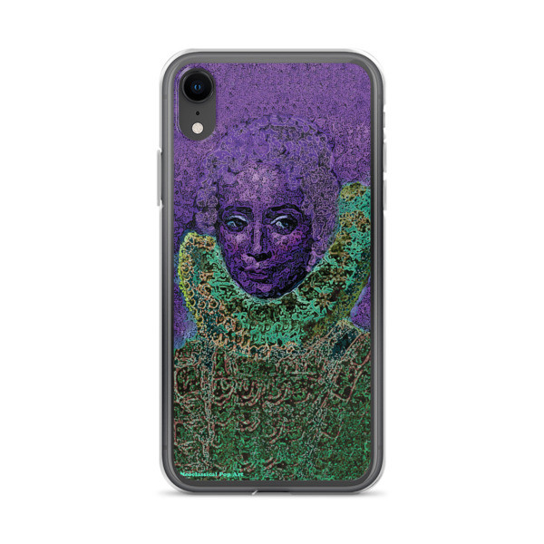 cute purple green neoclassical pop art iphone case featuring the best sir peter paul rubens clara serena portrait