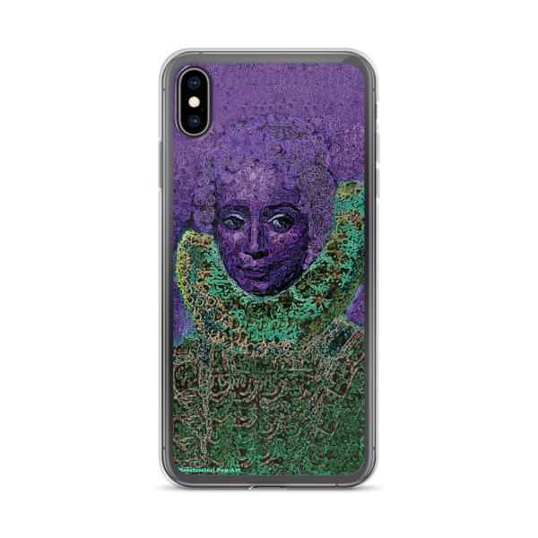 supper cool purple green neoclassical pop art iphone case featuring the best sir peter paul rubens clara serena portrait