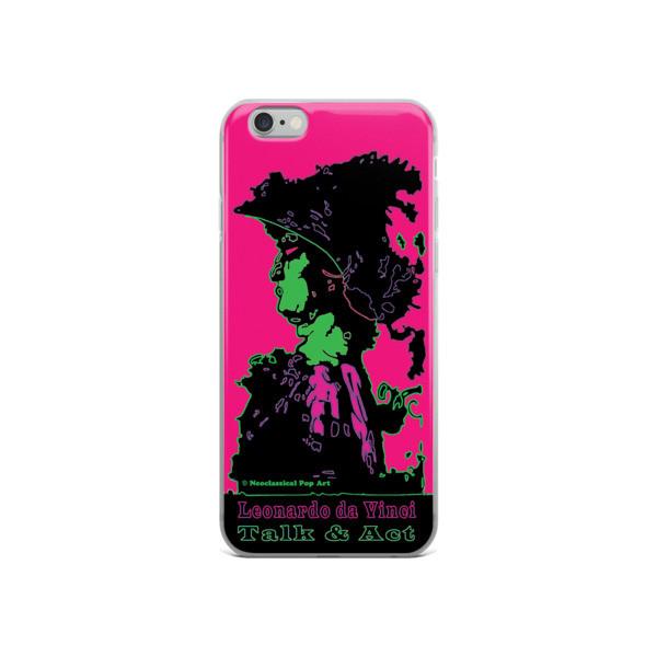 collectible Neoclassical pop art Leonardo da vinci Sweet pink and green iphone case