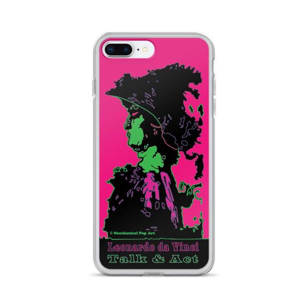 the best Neoclassical pop art Leonardo da vinci Sweet pink and green iphone case