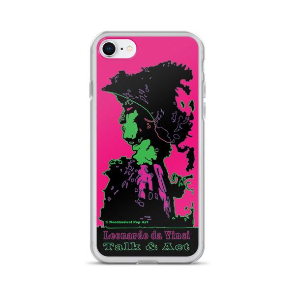 Alexander the great Neoclassical pop art Leonardo da vinci Sweet pink and green iphone case