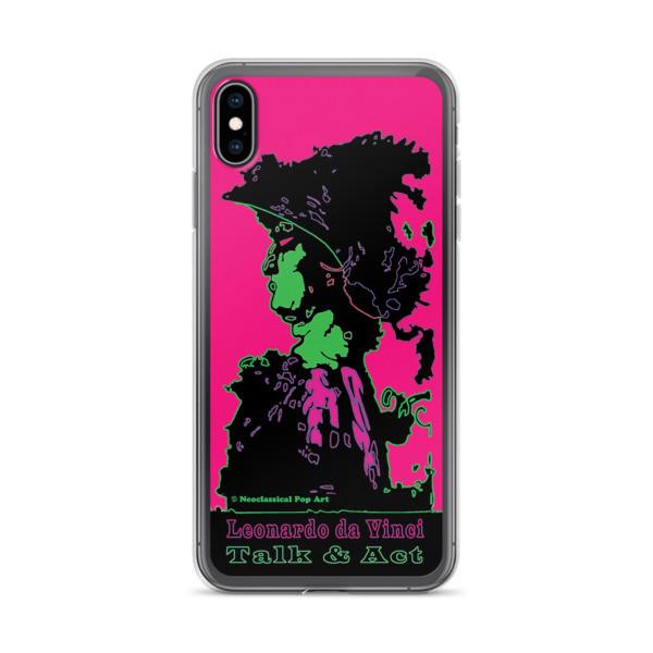 cool Neoclassical pop art Leonardo da vinci Sweet pink and green iphone case