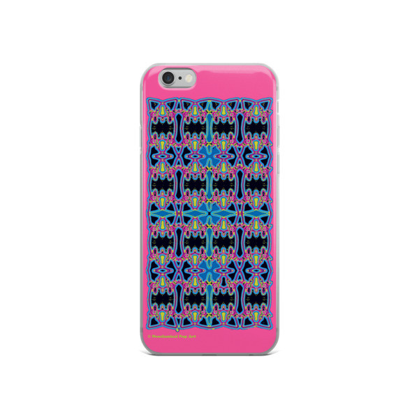 Blue Pink Rose Cross Geometric da vinci neoclassical pop art collectible iphone  cover for sale