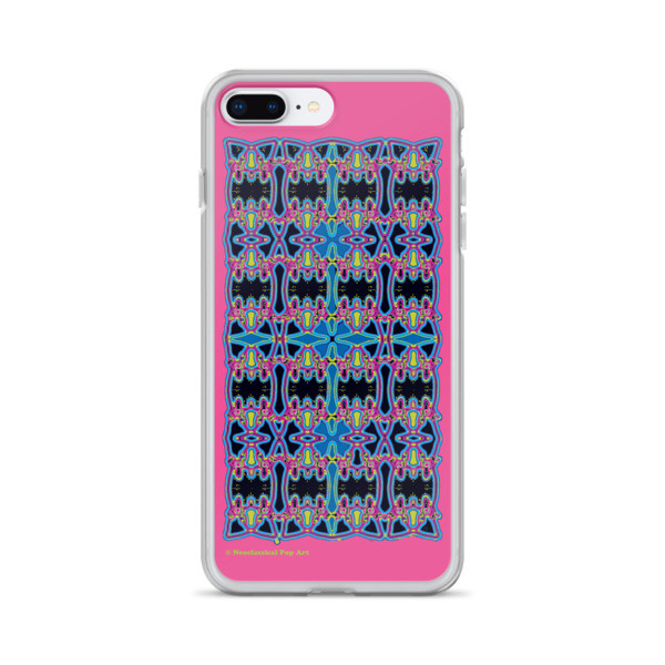 buy Blue Pink Rose Cross Geometric da vinci neoclassical pop art collectible iphone cover