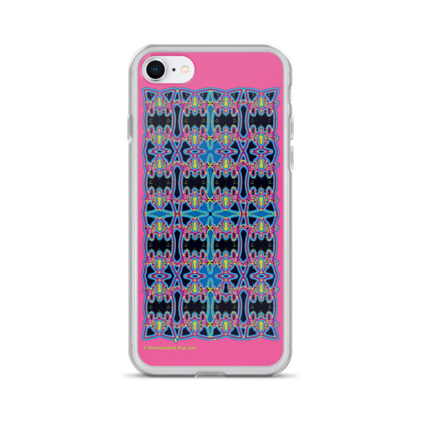 shop for Blue Pink Rose Cross Geometric da vinci neoclassical pop art collectible iphone cover