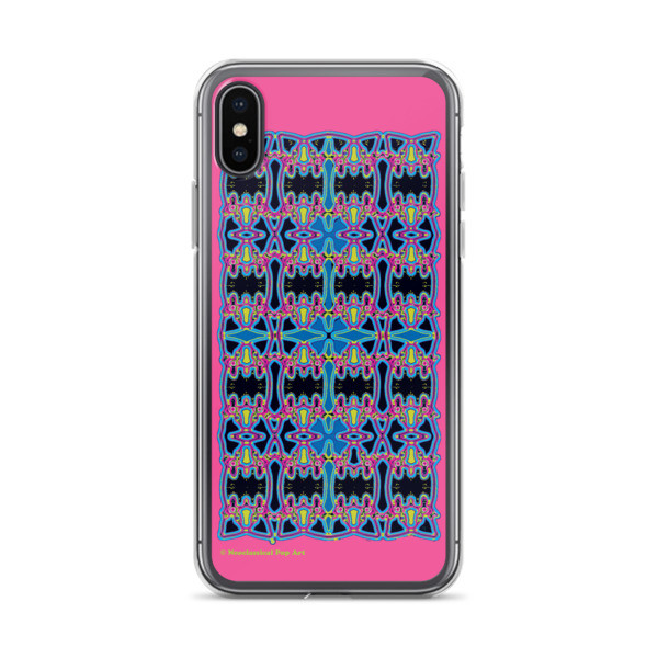 buy onlineBlue Pink Rose Cross Geometric da vinci neoclassical pop art collectible cover iphone