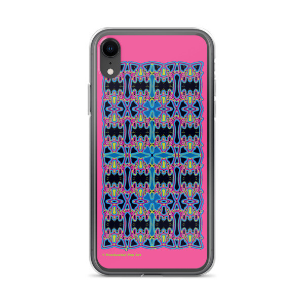 Blue Pink Rose Cross Geometric da vinci neoclassical pop art collectible iphone cover online store