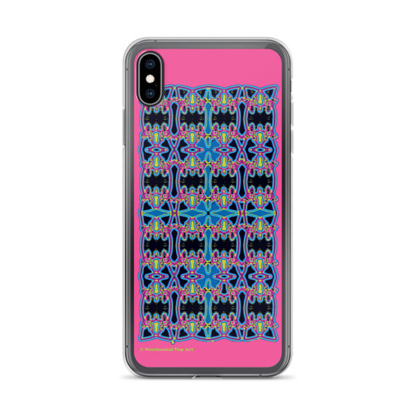 Blue Pink Rose Cross Geometric da vinci neoclassical pop art collectible  creative iphone  cases for sale