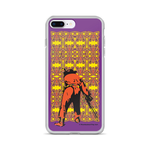 unique Neoclassical pop art yellow orange purple Manet ft. da Vinci iPhone Cases