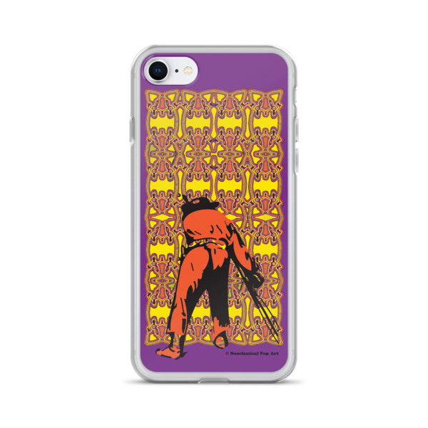 designer Neoclassical pop art yellow orange purple Manet ft. da Vinci iPhone Cases