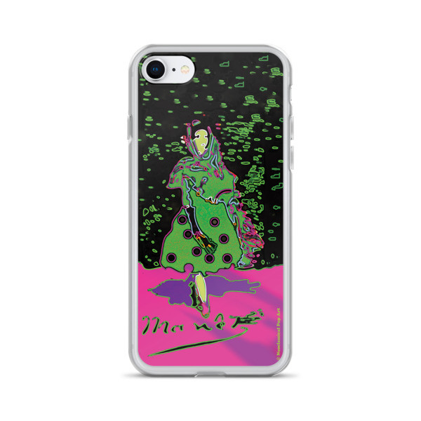 cool Eduard Manet lola de valence Neoclassical Pop Art green pink collectible iPhone cases