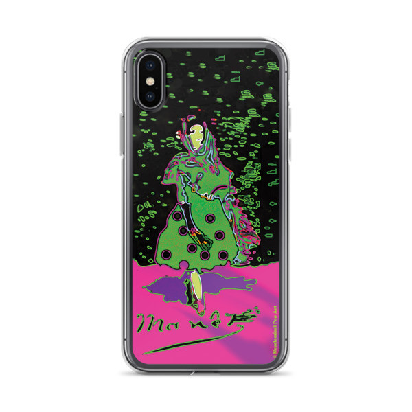 Eduard Manet lola de valence Neoclassical Pop Art green pink collectible creative iPhone cases