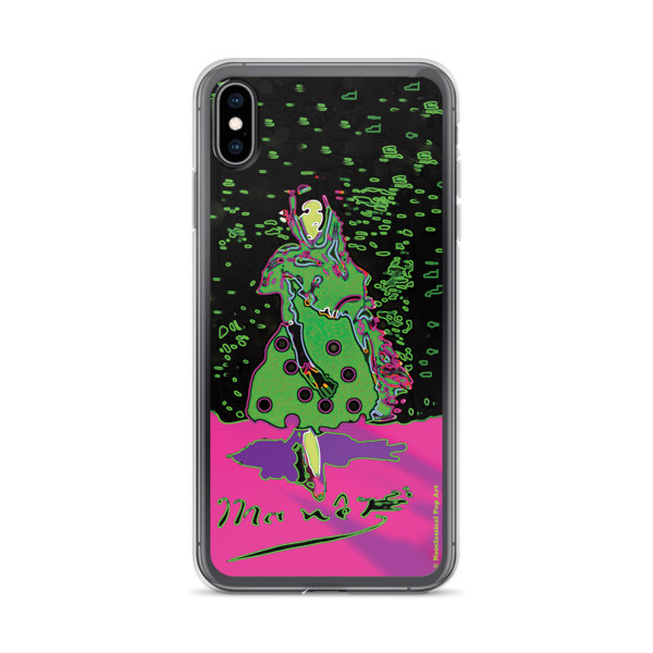 Eduard Manet lola de valence Neoclassical Pop Art green pink collectible iPhone cases for sale in our online shop