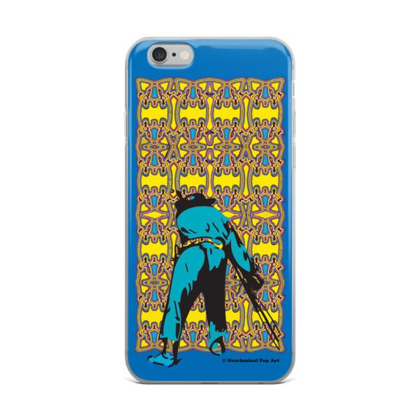 online shop for Neoclassical pop art yellow blue Mant ft. da Vinci iPhone Cases