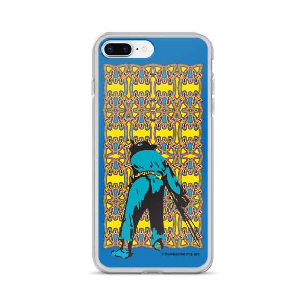 cool Neoclassical pop art yellow blue Manet ft. da Vinci iPhone Cases