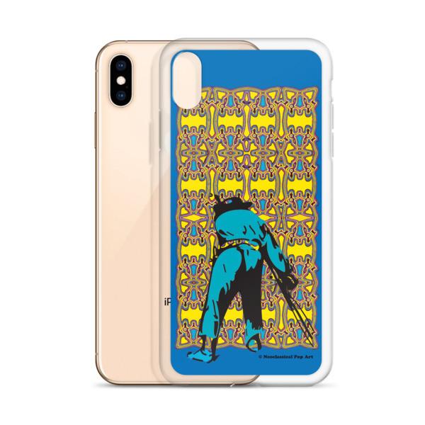the dest Neoclassical pop art yellow blue Manet ft. da Vinci iPhone Cases