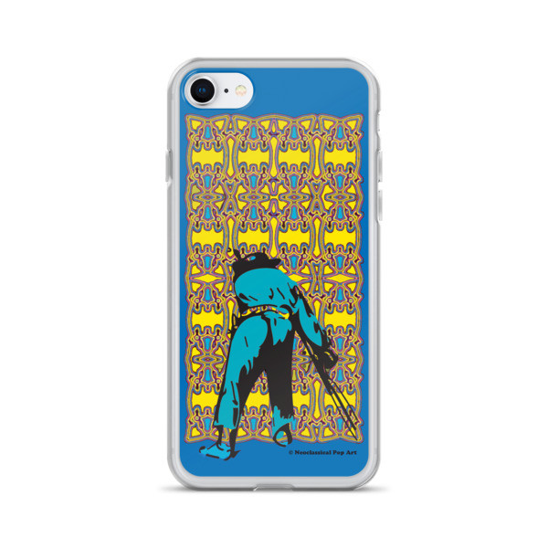 creative Neoclassical pop art yellow blue Manet ft. da Vinci iPhone Cases