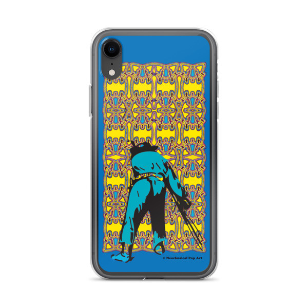 cute Neoclassical pop art yellow blue Manet ft. da Vinci iPhone Cases