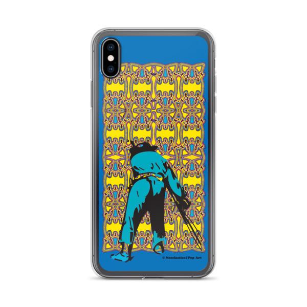 unique Neoclassical pop art yellow blue Manet ft. da Vinci iPhone Cases