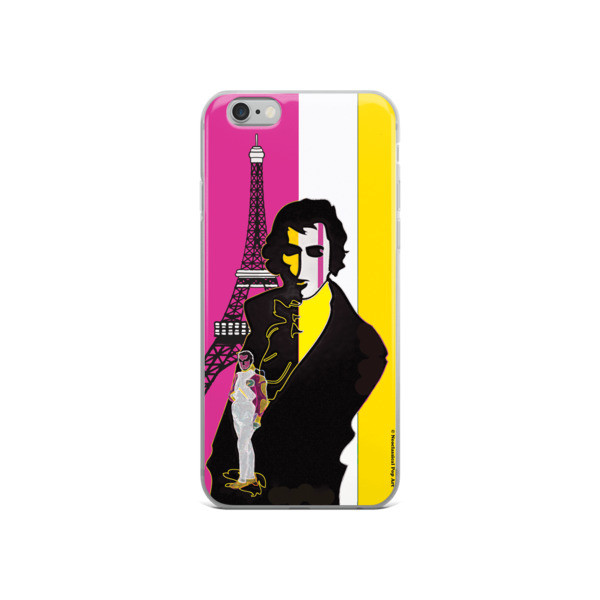 on sale Yellow Pink eiffel tower  napoleon Jacques-Louis David Neoclassical Pop Art iphone case at our online shop