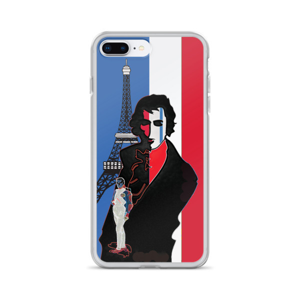 cool Blue white red french flag  eiffel tower  napoleon Jacques-Louis David Neoclassical pop art iphone case on sale