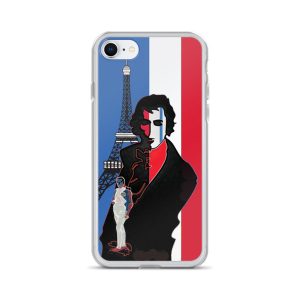 cheap cool Blue white red french flag  eiffel tower  napoleon Jacques-Louis David Neoclassical pop art iphone case on sale