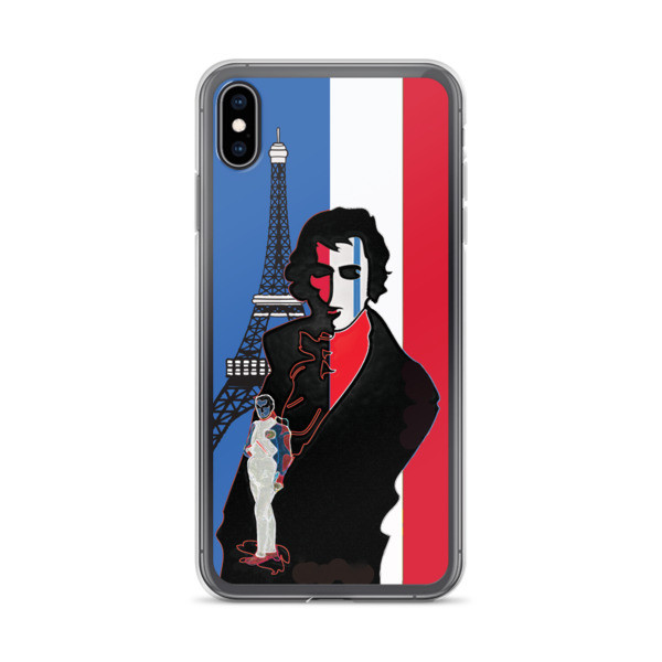 designed Blue white red french flag  eiffel tower  napoleon Jacques-Louis David Neoclassical pop art iphone case for sale online near