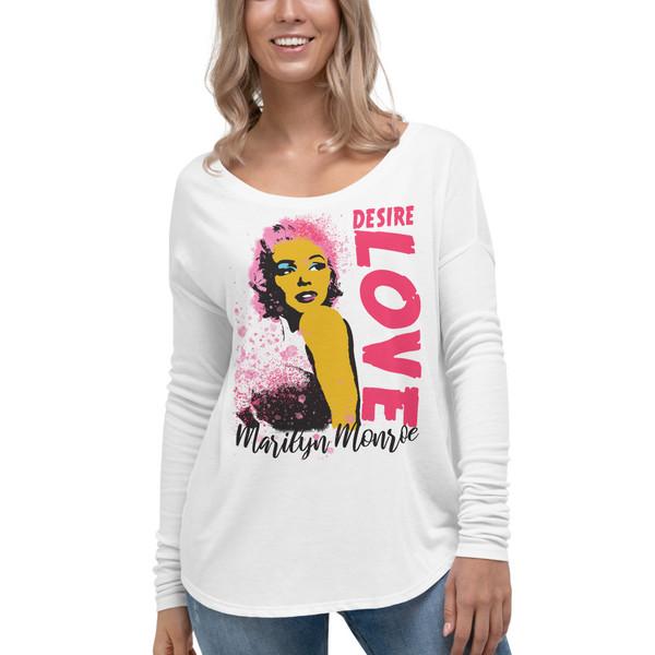 Marilyn Monroe | Desire Love Ladies' Long Sleeve Tee