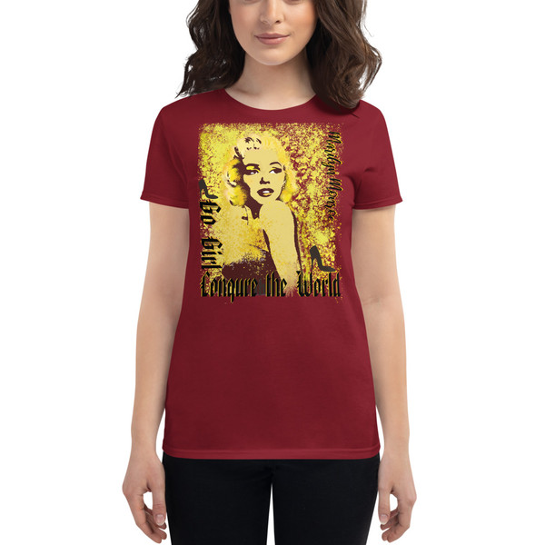 bordo Collectible Marilyn Monroe Go Girl Women's short sleeve t-shirt by Neoclassical Pop Art