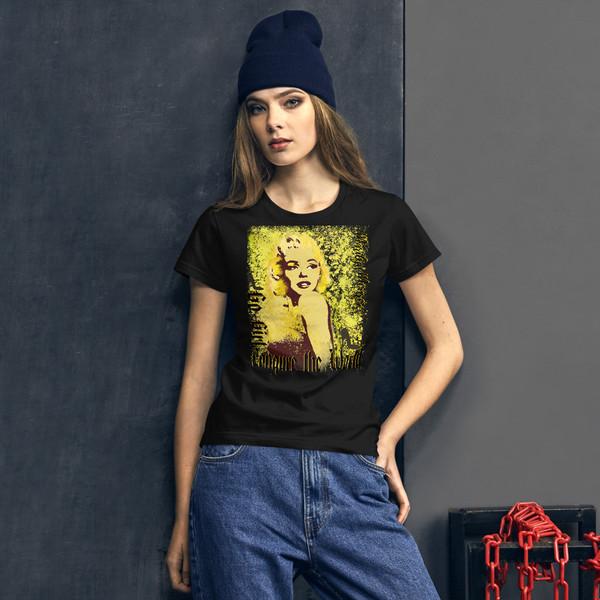 buy online Collectible Marilyn Monroe Go Girl Women's short sleeve t-shirt by Neoclassical Pop Art