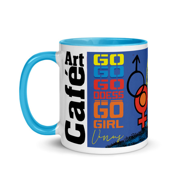 Mars Venus  Love mug for lovers, man, woman mom and astrology lovers. This neoclassical pop art mug makes a perfect collectible gift.