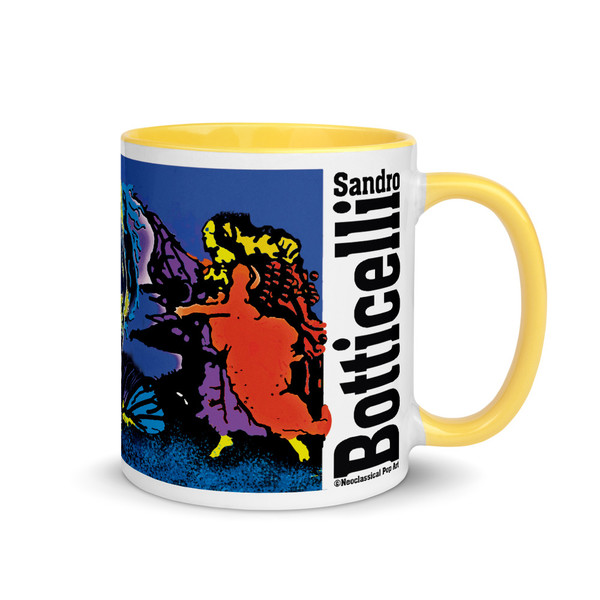 shop Sandro Botticelli Venus Love mug. Best gift  for lovers, man, woman mom and astrology lovers. This neoclassical pop art mug makes a perfect collectible gift.