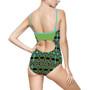On Sale Da Vinci Cross Women's One-piece Swimsuit  by Neoclassical Pop Art