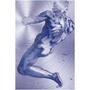 Michelangelo | male nude Purple Man Print on Metal