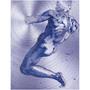 On Sale Michelangelo Male Nude Purple Man Print on Metal  by Neoclassical Pop Art