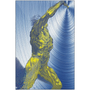 On Sale  Rubens  Anatomical Figure Yellow Blue Print on Metal  by Neoclassical Pop Art