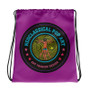 Neoclassical pop art collectible Botticelli  Dante Pink yellow blue green orange cool Drawstring bag