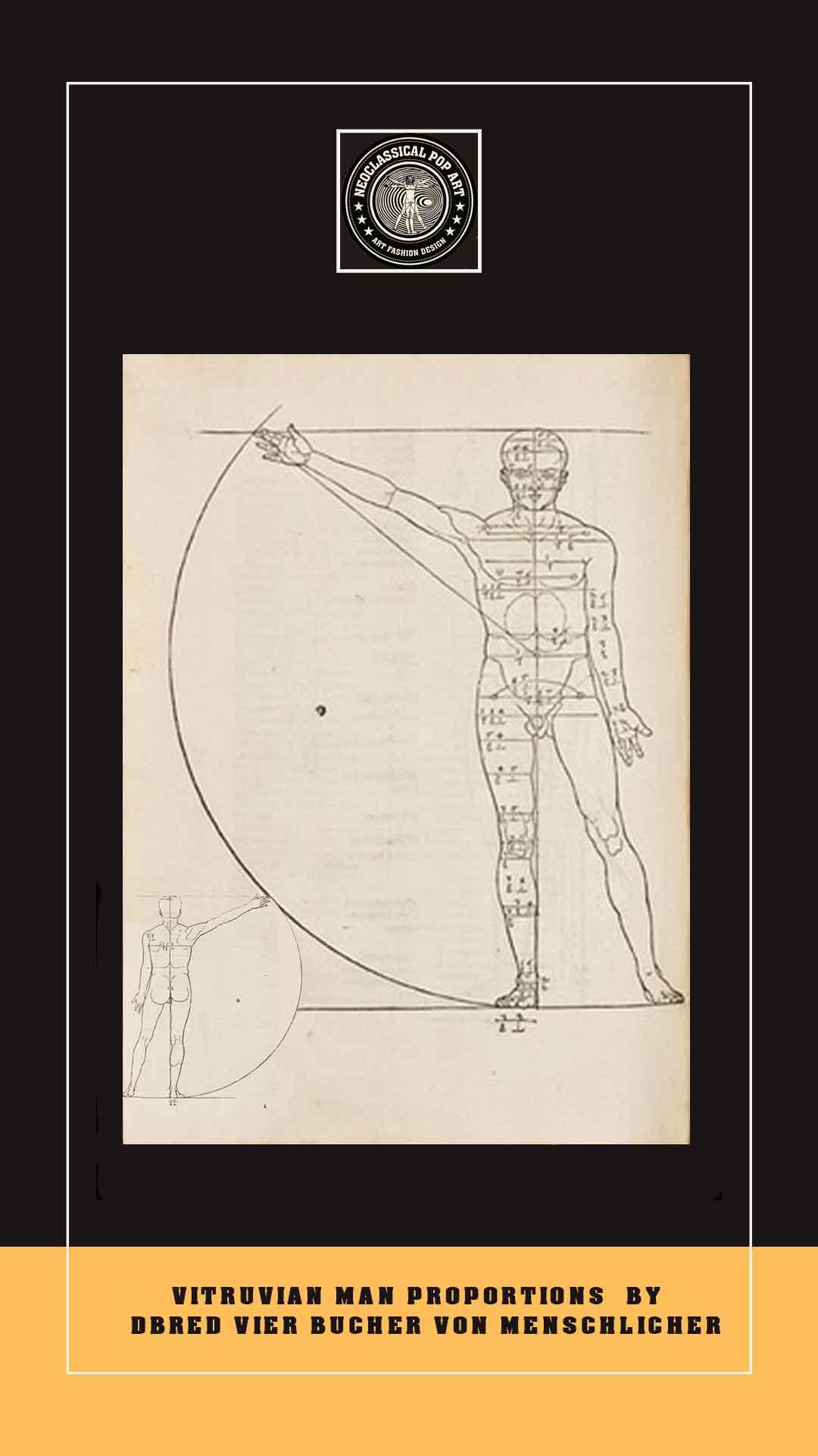 debrer vitruvian man drawing