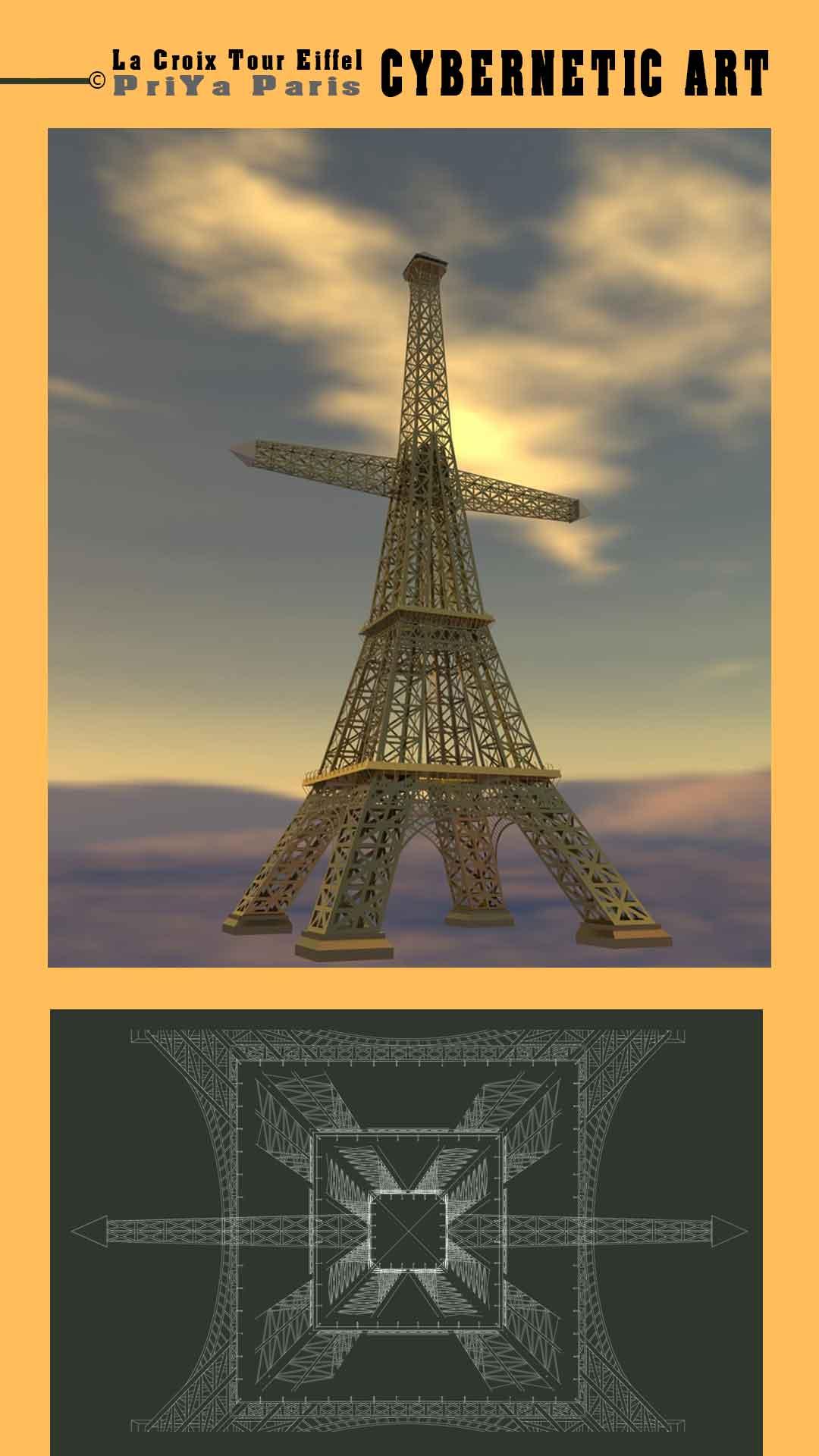 la croix tour eiffel