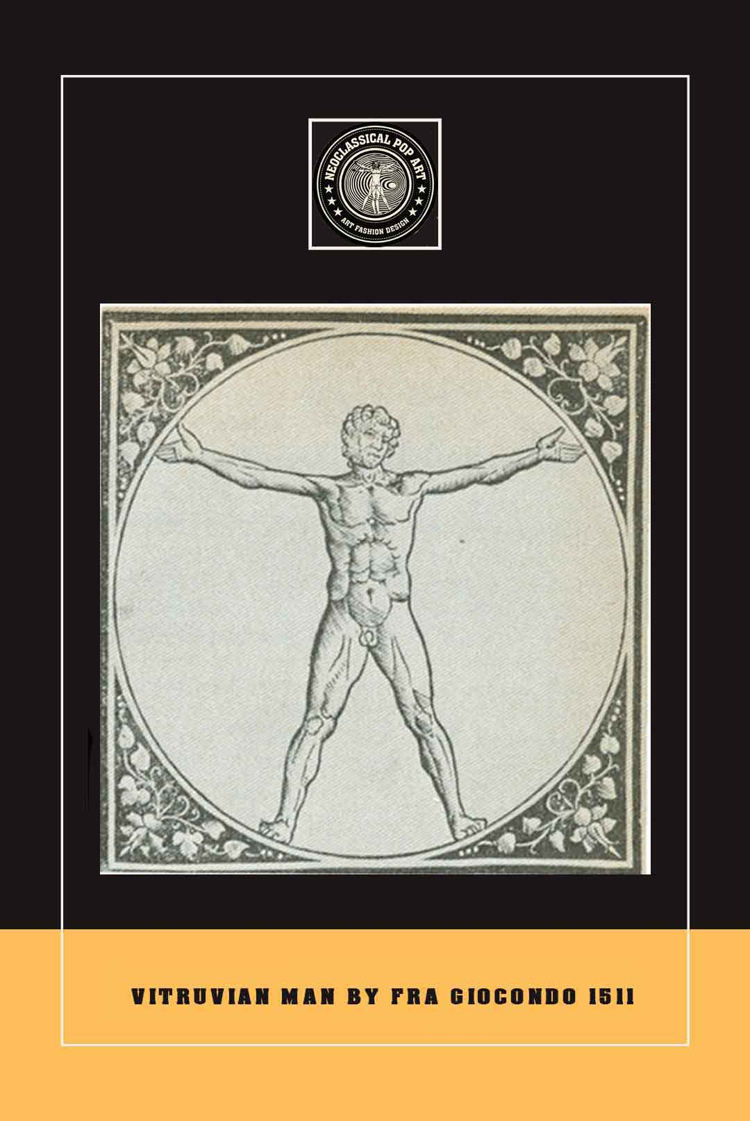 fra-vitruvianman-drawing-logo-study by neoclassical pop art