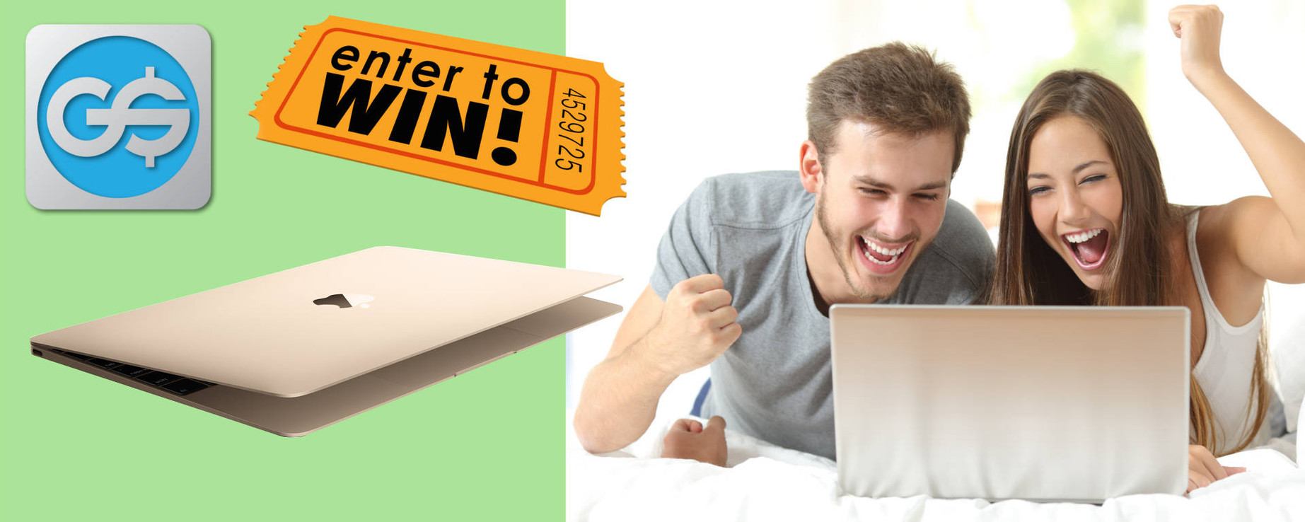 Go for the Gold Macbook by entering the GainSaver Sweepstakes for Feb Apr 2017