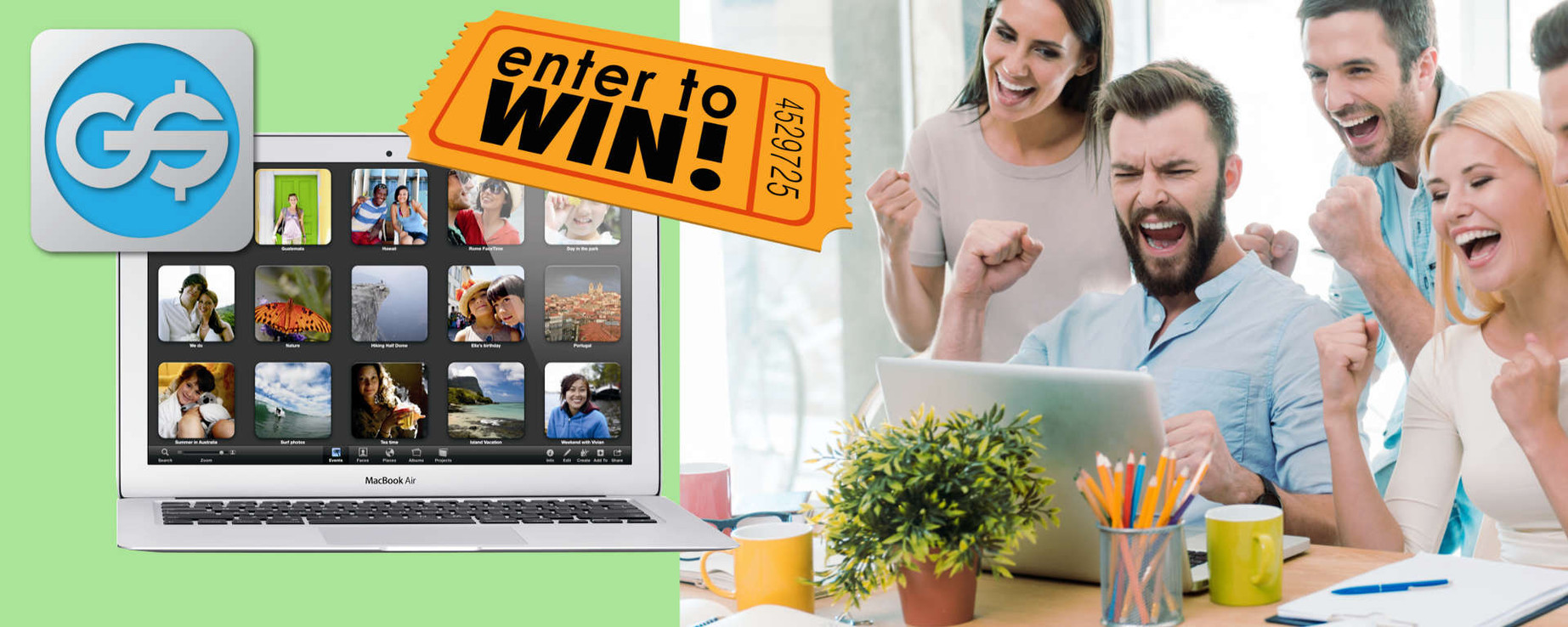 You could win a 13-inch Macbook Air just by entering the GainSaver Sweepstakes for August October 2017