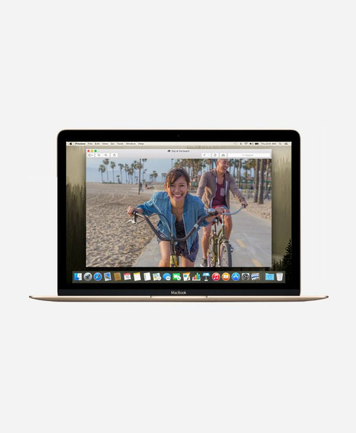 Refurbished Apple Macbook (Early 2015) Gold Retina Front