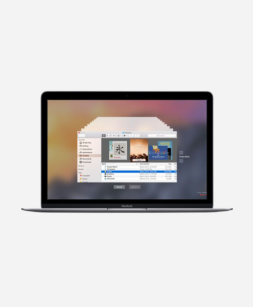 Refurbished Apple Macbook (Early 2015) Space Gray Retina Front