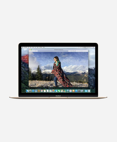 Refurbished Apple Macbook (Early 2016) Gold Retina Front