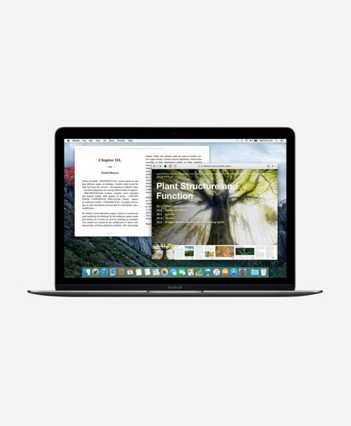 Refurbished Apple Macbook (Early 2016) Space Gray Retina Front