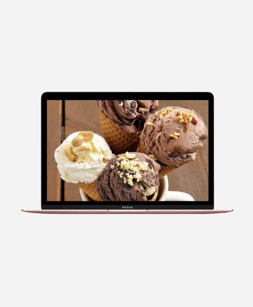 Refurbished Apple Macbook (Mid 2017) Rose Gold Retina Front