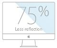The cheap used Late 2013 iMac reduces reflection by 75 percent.