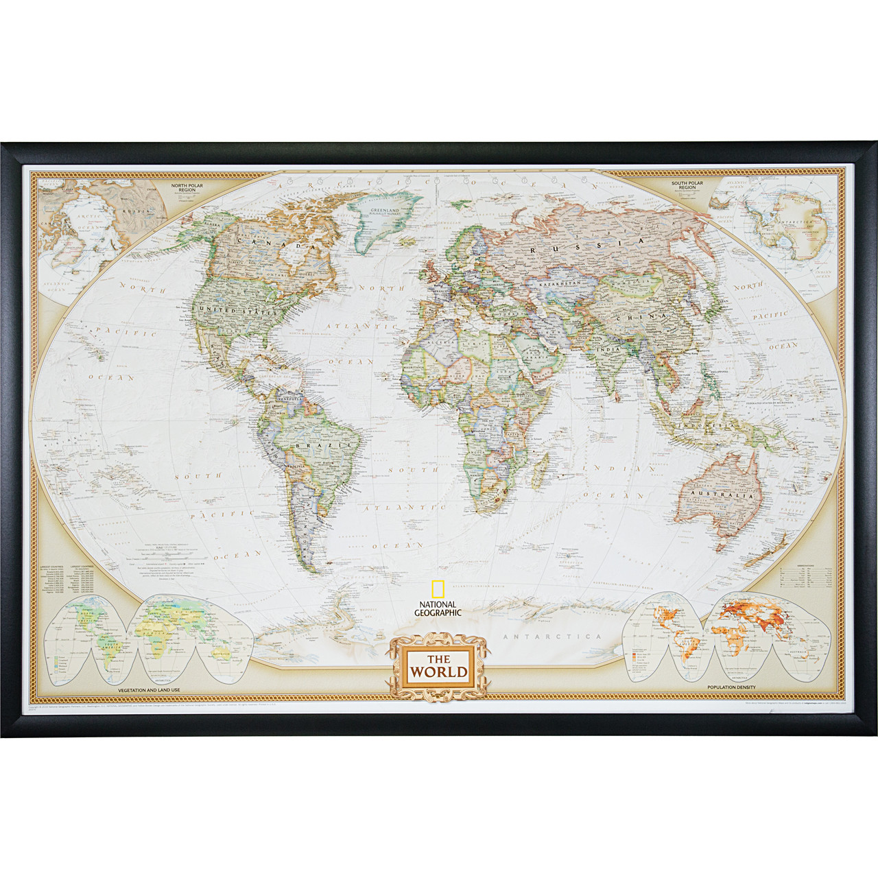Wayfarer Executive World Push Pin Travel Map - Craig Frames