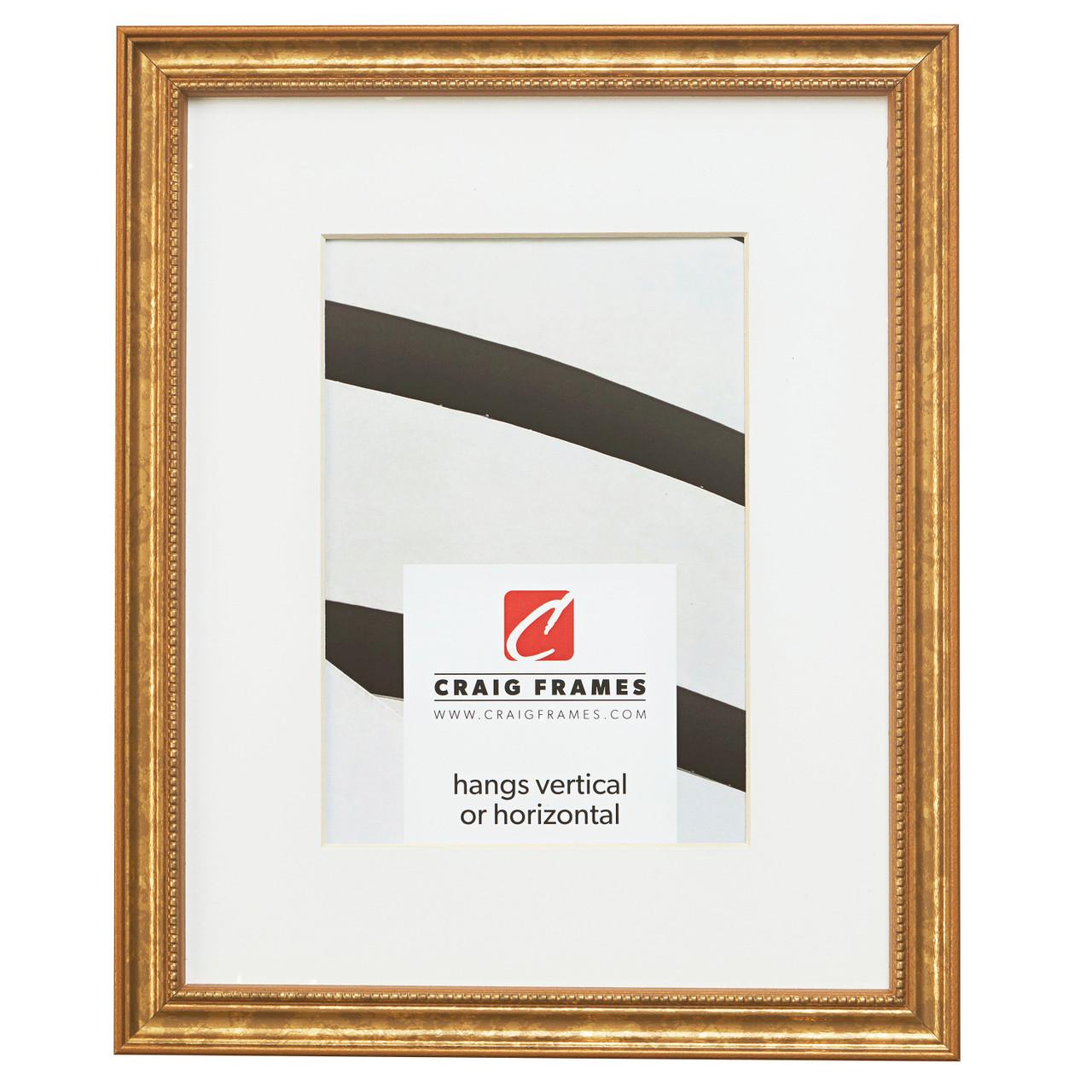 Craig Frames 2 Wide 5x7 Inch Vintage Gold Picture Frame 2123150507